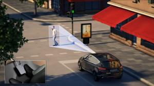 Ford_automatické vyhnutí se překážce na silnici